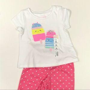 ⭐️NWT⭐️ 2 Piece Toddler Girls Summer Pajamas